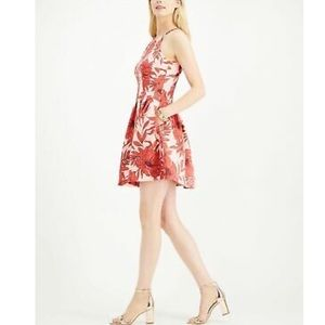 Vince Camuto pink floral fit and flare dress NWT